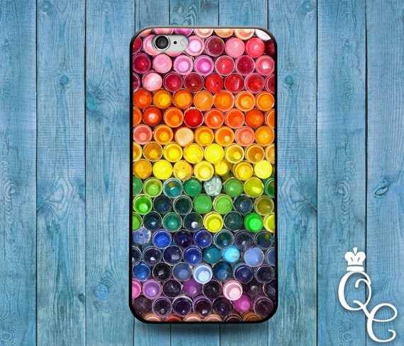 iPhone 4 4s 5 5s 5c SE 6 6s 7 plus iPod Touch 4th 5th 6th Gen Cute Custom Crayon Rainbow Color Colorful Phone Cover Amazing Pretty Case