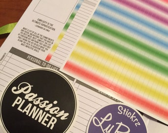 Time Block out Strips for Weekly layout section in the Compact and Classic sized Passion Planners