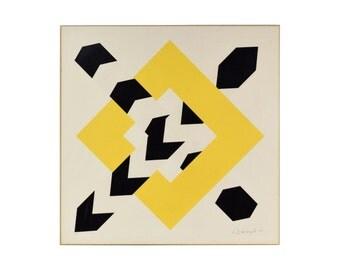"1971 Modernist Graphic Screenprint ""Constellation IV"" Alan D'Arcangelo"