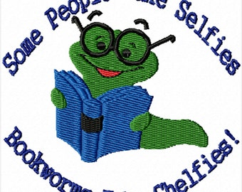 Bookworm -A Machine Embroidery Design for the Bookworm