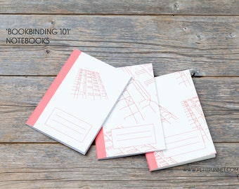 Set of 3 Pocket Notebooks: 'Bookbinding 101' Notebooks