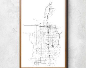 Map of Salt Lake City, Salt Lake City, Salt Lake City art, Salt Lake City map, Salt Lake City print, Salt Lake City decor, SaltLakeCity gift
