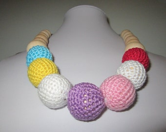 Nursing Necklace / Teething necklace / Mom Nursing necklace/Colorful womens accessories, for the baby