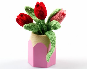 Crochet Tulip Bouquet Pattern Amigurumi Crochet Amigurumi Pattern Crochet Flower Patterns Amigurumi Flower Amigurumi Toy P048