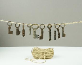 10 vintage skeleton keys, old skeleton keys, heart key, key collection, authentic collection, real keys, skeleton, heart key, corbin old
