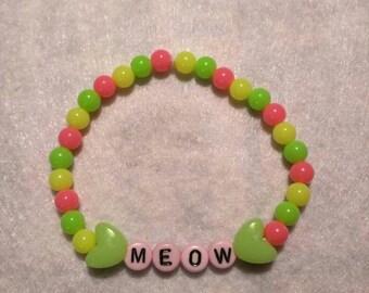 Meow beaded cat bracelet