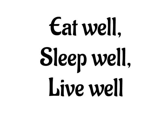 eat well sleep well live well cut fold book folding. Black Bedroom Furniture Sets. Home Design Ideas