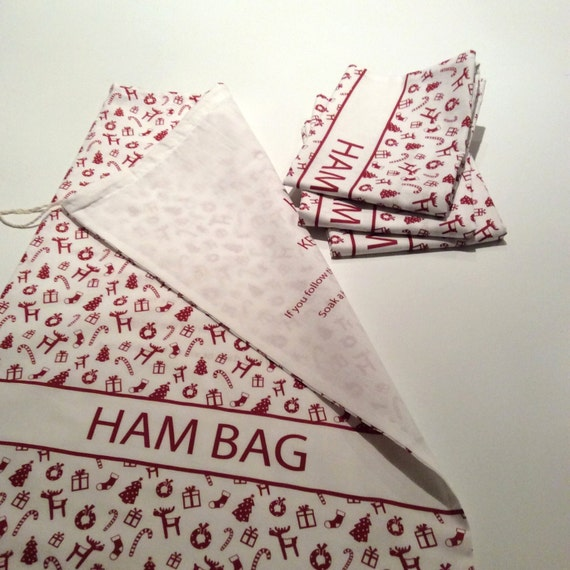 Christmas Ham Bag 100% Cotton Large 67cm x 42cm