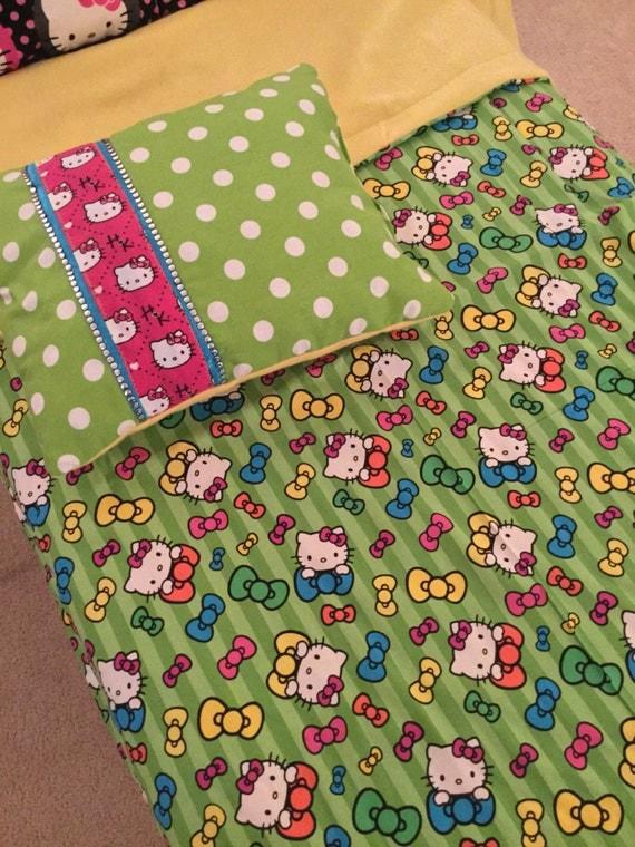 Hello Kitty Pillow And Throw Blanket Set : Hello Kitty Throw and Pillow Set by Thekoykitty on Etsy