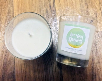 Live Your Dreams - Honeydew Melon Soy Candle 8 oz Jar