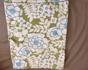 Vintage Linen Floral Tablecloth