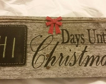 Rustic Countdown to Christmas