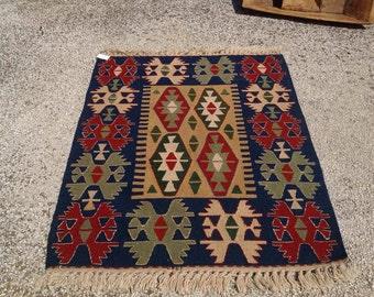 Small Kilim Rug, Entrance Rug, Vintage Turkish Rug, Pastel Kilim Rug, Kelim