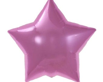 Pink star balloon.  Light pink star balloons.  Twinkle Twinkle Little Star party.  Pink birthday balloons.  Baby pink mylar star balloon