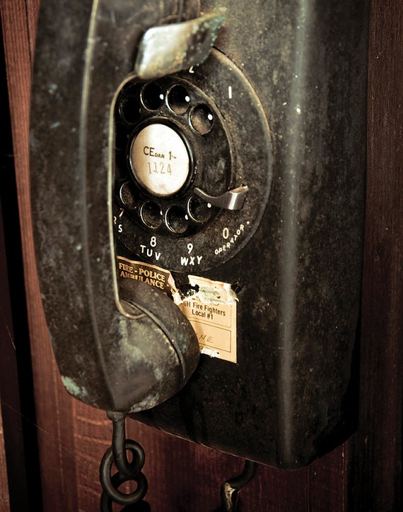 Telephone, Wood Print, Abandoned, Rust, Wall Art, Pittsburgh, Pennsylvania, Church