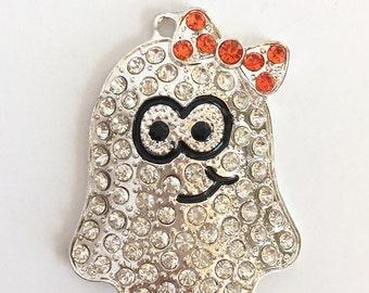 Halloween Pendant - Halloween Charm - Ghost Pendant - Halloween Jewelry - Chunky Pendant - Wholesale Pendant - Ghost Charm