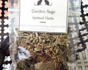 Smudge Garden Sage Herb, Smudging Cleansing Loose Herbs, Natural Incense, Native American Blessing, Banish Negative Energy, Positive Energy