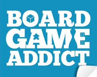Board Game Addict - Tabletop & Hobby Gaming Decor - Boardgaming Art for BoardGame Geeks - Geeky Goodies