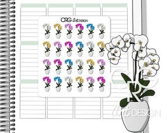 Orchid Stickers  | Planner Erin Condren Plum Planner Filofax Sticker
