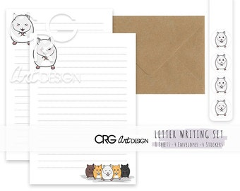 Hamster Letter Writing Set | Snailmail Penpals Stationery