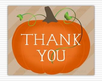 Pumpkin Thank You Etsy