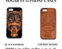 Yetis Sugar Sale Wild Boars Head   wood phone case for iphone, samsung cherry wood bamboo 6 6plus Laser Engraved