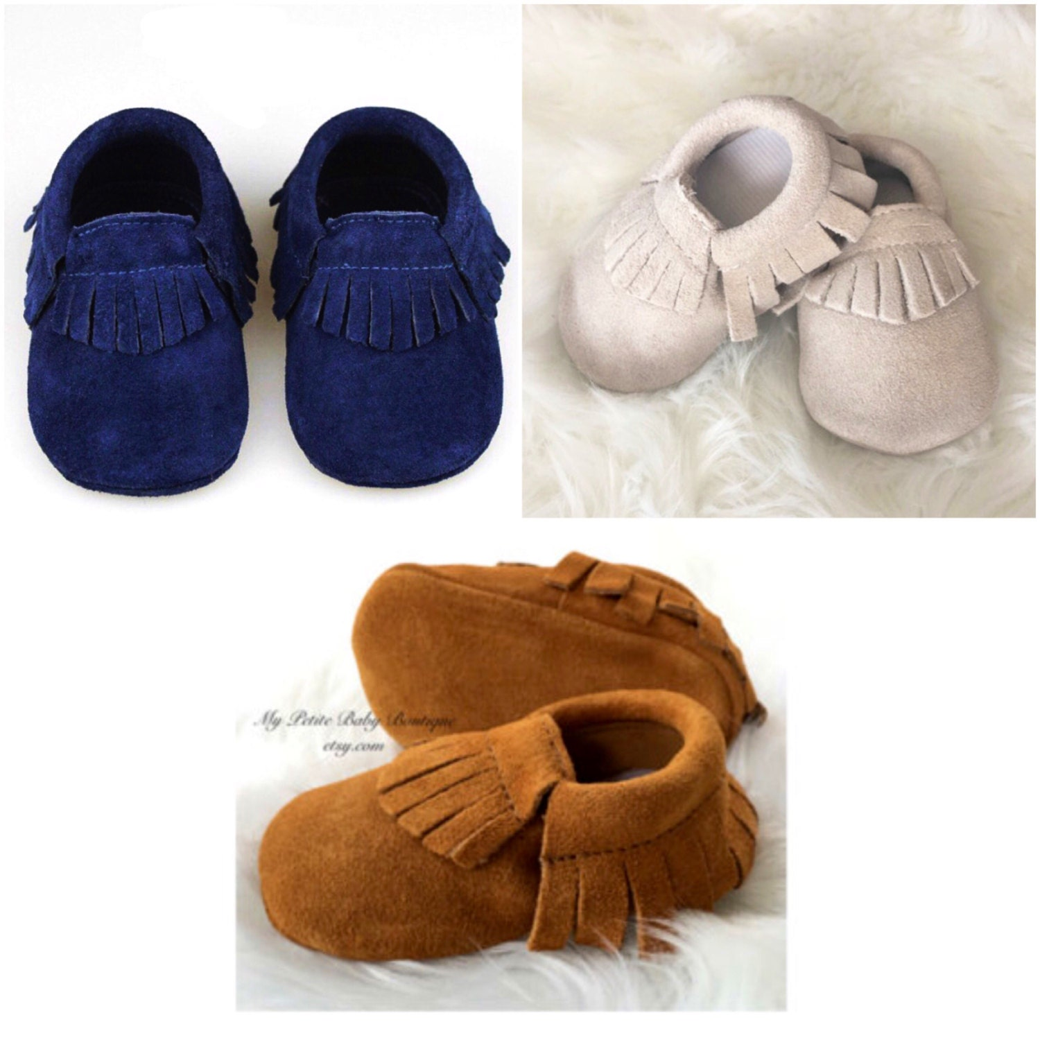 Genuine Suede Leather Baby Moccasins Baby Boy Moccasins 100