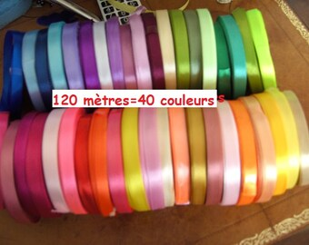 120 metres of 10mm 40 colors satin ribbon