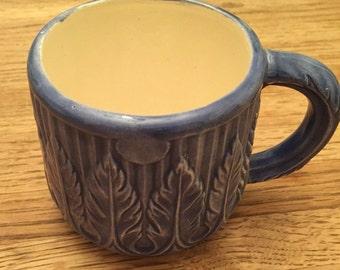 Hand Painted Blue Mug