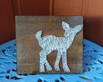 Woodland Fawn String Art / Made to Order Home Decor