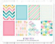 Easter Vertical, Horizontal Planner Full Box Sticker Sheets, Easter Full Box Set Happy
