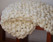 Giant Knit Blanket - Merino Wool Super Chunky Knit Throws