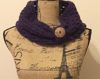 Crochet Infinity Scarf with button