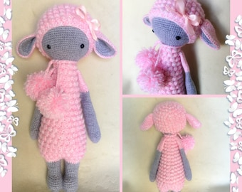 LILY/LUPO the LAMB by Lalylala pattern/Amigurumi toy/Crochet Doll