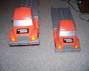 Black and Decker toy trucks