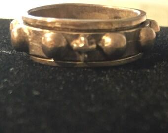 Vintage Sterling Spinner Ring  Size 10.5