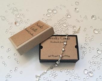 Handmade bracelet handmade silver bracelet silver star bracelet valentines gift ideas gifts for her tibetan silver bracelet jewellery
