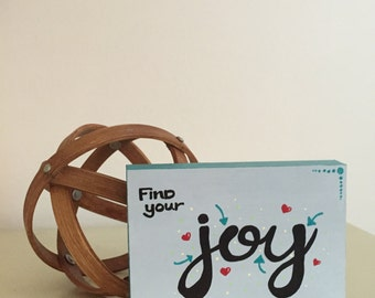Find Your Joy 5x7 Wood Sign, Wood Block Art