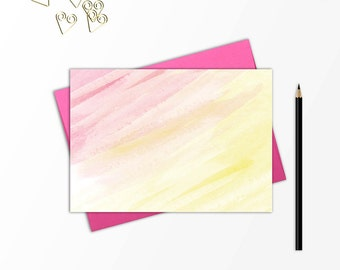 Note card set, Stationery set, Stationery cards, Watercolor stationery, Blank note card, Birthday gift, Gift for her