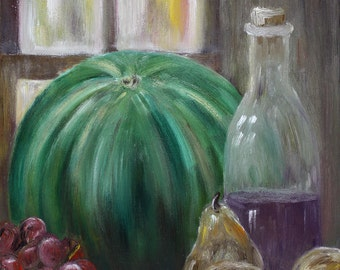 Watermelon - Still Life Oil Painting