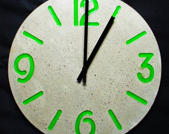 concrete and polymer wall clock colour variations available extra large wall clock konkrete uhr