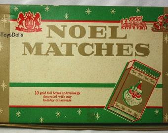 Vintage Christmas Noel Matches and Original Box...Retro!