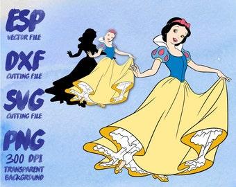 Disney Princess Snow White Clipart , SVG Cutting , ESP Vectors files , T shirt , iron on , sticker ,Personal Use