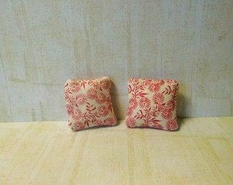 miniature cushions, doll house cushions, miniatures, miniature accessories, doll house accessories