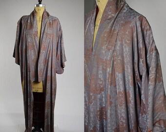 Vintage Japanese Mauve Kimono
