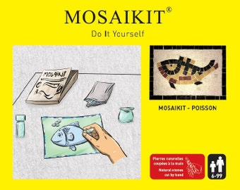 MOSAIKIT DIY - FISH -  Mosaic Kit Mosaic box