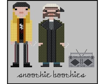 Jay and Silent Bob- Cross Stitch Pattern PDF Instant Download
