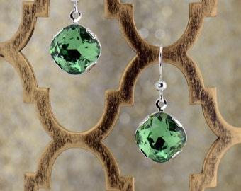 Erinite Green Crystal Earrings - E2573