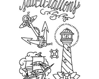 """4x6 """"Sail-u-tations"""""""