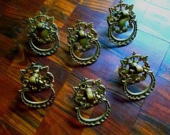 Lot of 6 Antique Drawer Pulls.